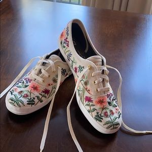 Keds Rifle Paper Company embroidered sneakers